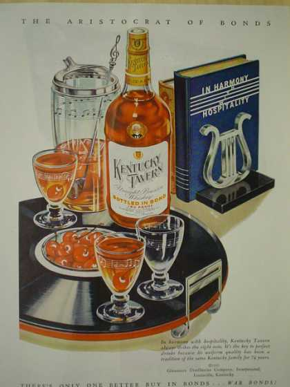 Kentucky Tavern Whiskey. In harmony with hospitality (1945)