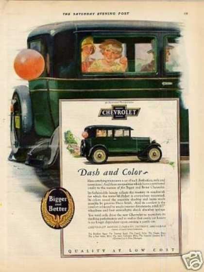 "Chevrolet Car Color Ad ""Dash and Color... (1928)"