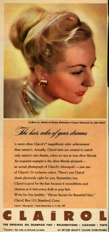 Clairol Incorporated's Clairol Shampoo Tint – The hair color of your dreams (1946)