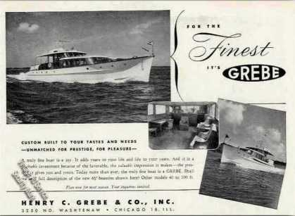 Grebe Yacht Photos Collectible Boats (1949)
