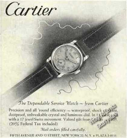 Cartier Dependable Service Watch (1944)