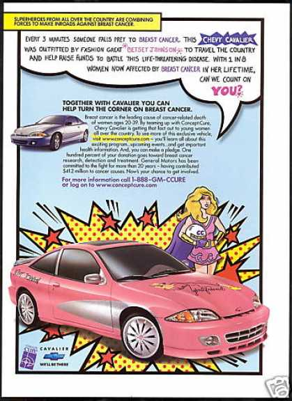 Chevrolet Cavalier Breast Cancer Betsey Johnson (2001)