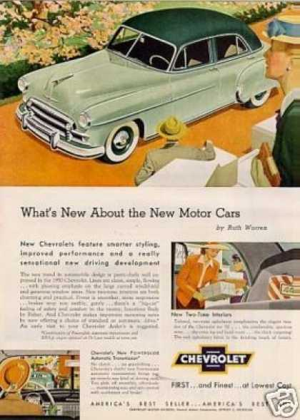 "Chevrolet Car Ad ""What's New About... (1950)"