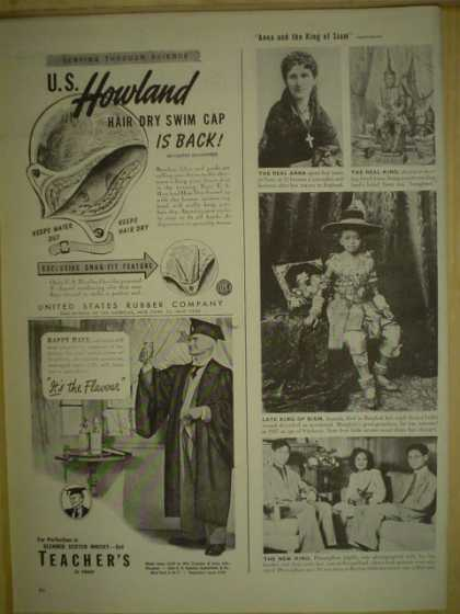 Howland Hair dry Swim Cap AND Teachers Scotch (1946)
