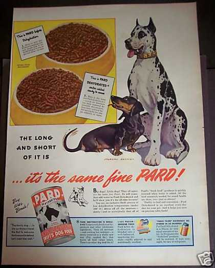 Original Pard Dogfood By Swift Dogs (1944)