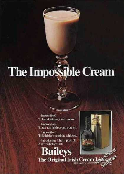 Baileys the Impossible Irish Cream Liqueur (1979)