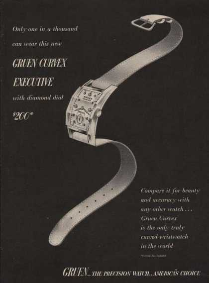 Gruen Curved Executive Ladies Watch (1946)