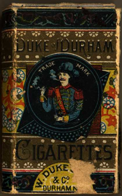 W. Duke Sons & Co.'s Duke of Durham Cigarettes – Duke of Durham Cigarettes Box Cover