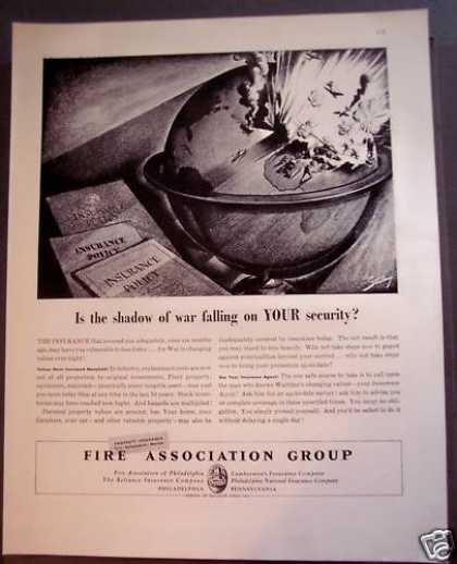 Fire Association Group See Your Insurance Agent (1942)