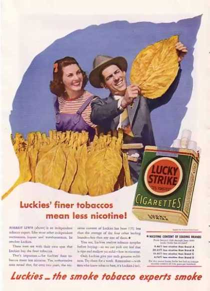 Lucky Strike Cigarette – Green Pack of Luckies (1940)