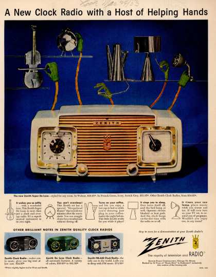 Zenith Radio Corporation's Various – A New Clock Radio with a Host of Helping Hands (1953)