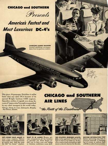 Chicago And Southern Air Line's Dixieliners – Chicago and Southern Presents America's Fastest and Most Luxurious DC-4's (1946)
