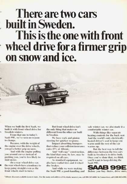 Saab 99e In the Snow (1972)