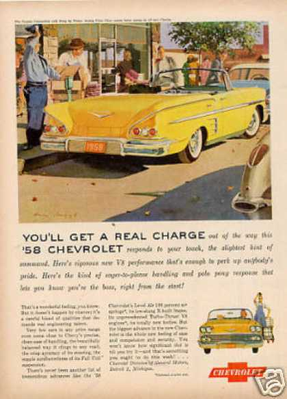 Chevrolet Impala Convertible Car (1958)