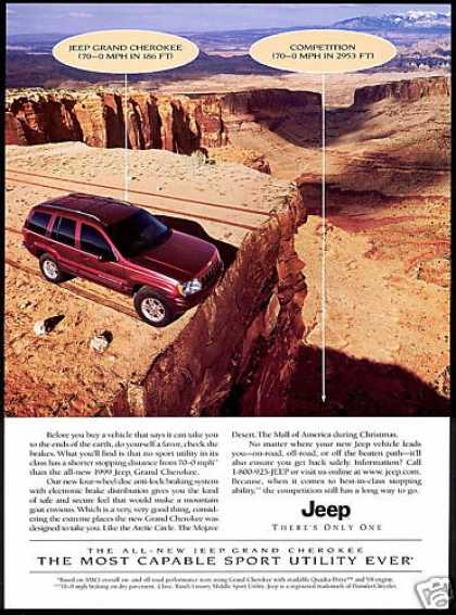 Jeep Grand Cherokee Canyon Photo Disc Brakes (1999)