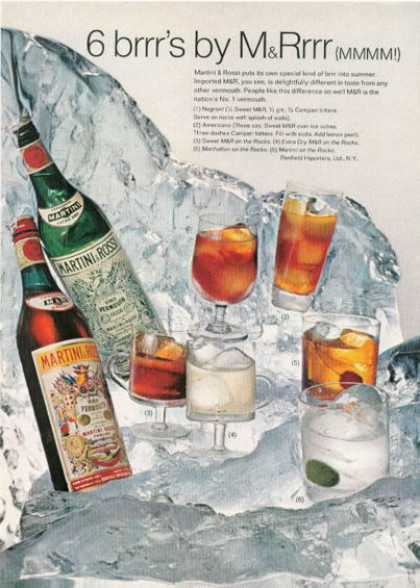 Martini & Rossi Cocktails (1968)