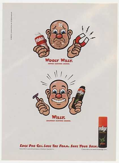 Wooly Willy Cartoon Edge Pro Gel Shaving (1998)