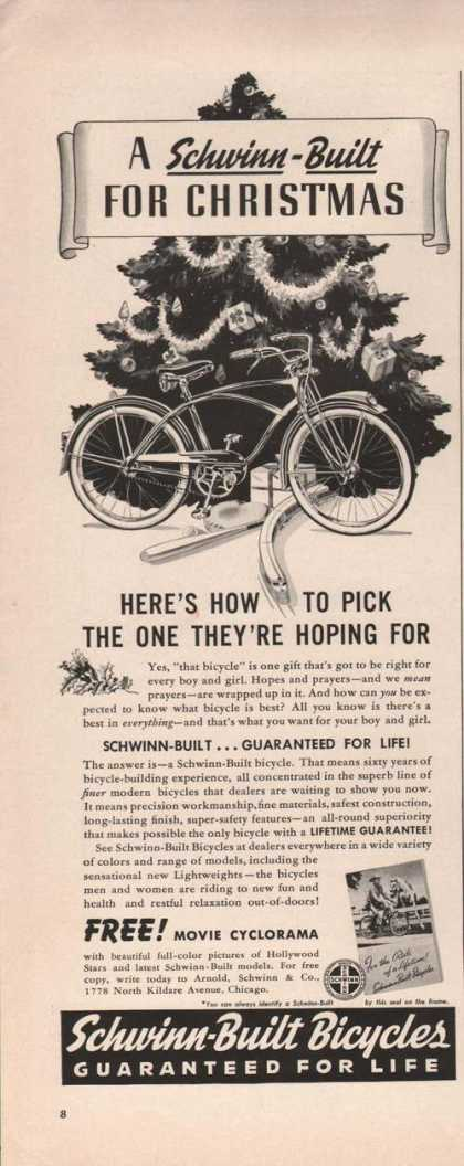 Schwinn Built Bicycles For (1941)