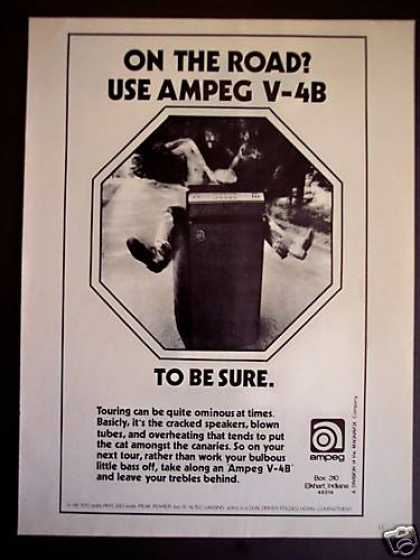 Ampeg V-4b Amp Guitar Amplifiers (1973)