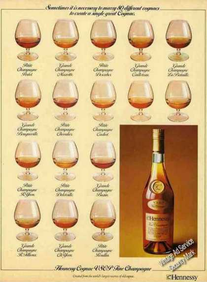 Hennessy Cognac Vsop Fine Champagne Nice Uk (1977)
