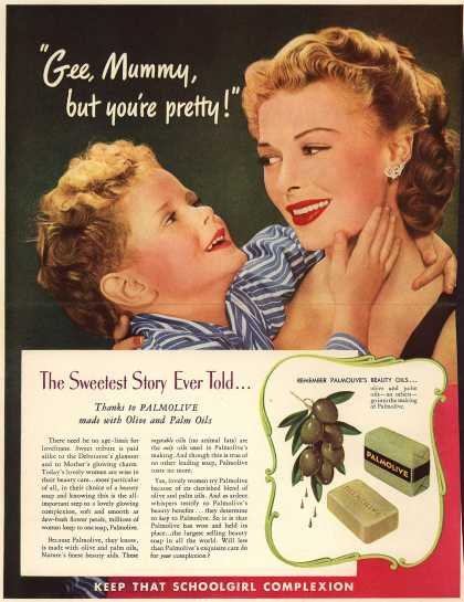 "Palmolive Company's Palmolive Soap – ""Gee Mummy, but you're pretty!"" (1942)"