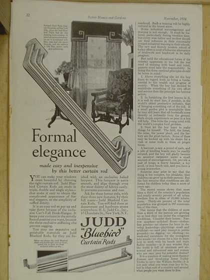 Judd Bluebird Curtain Rods Formal Elegance (1926)