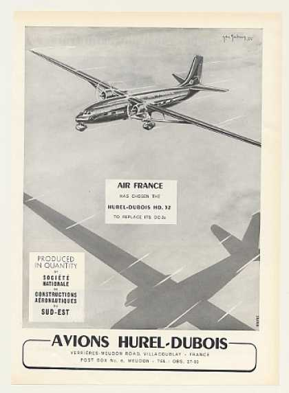 Air France Airlines Hurel-Dubois HD 32 Aircraft (1955)