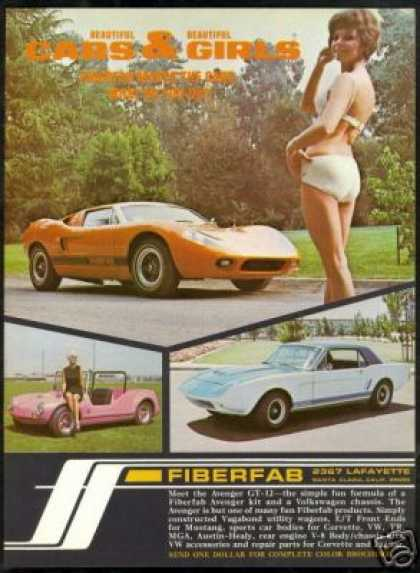 Fiberfab Avenger Car Kit Woman Bikini Vintage (1968)