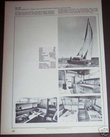 Jensen Marine Cal 29 Sailboat Boat Spec Page (1971)