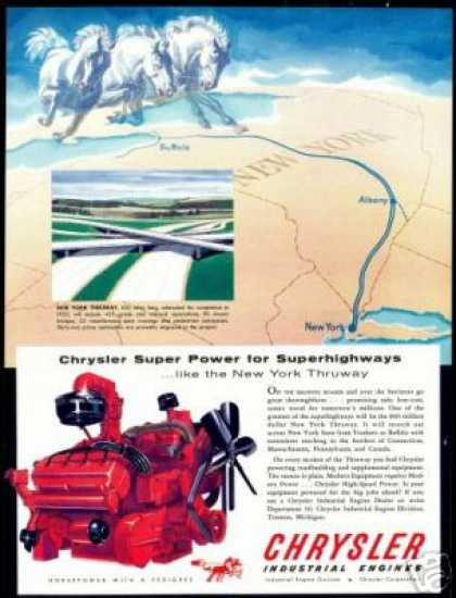 New York Thruway Highway Chrysler Engine (1954)