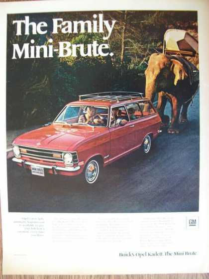 Buick Opel Kadett Car With Elephant (1969)