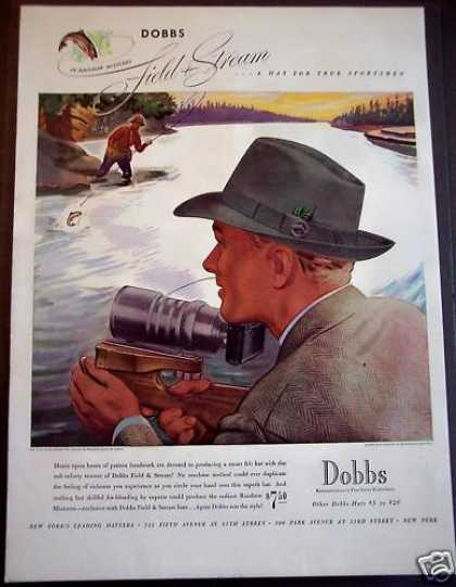 Dobbs Hats for Fisherman Rolando Rivera Art (1939)