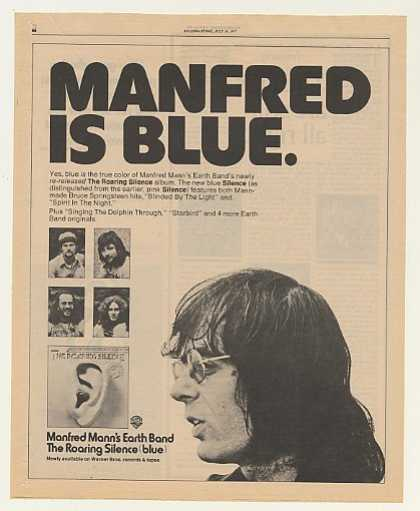 Manfred Mann's Earth Band Roaring Silence Blue (1977)