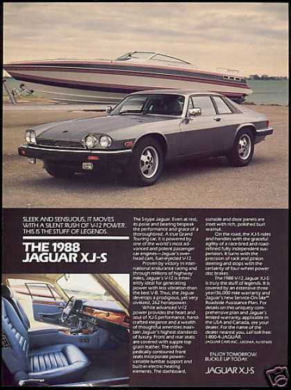 Jaguar XJS XJ-S Car Print Boat Photo (1988)