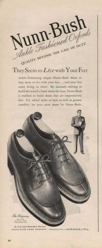 Nunn Bush Ankle Oxford Mens Shoe (1946)