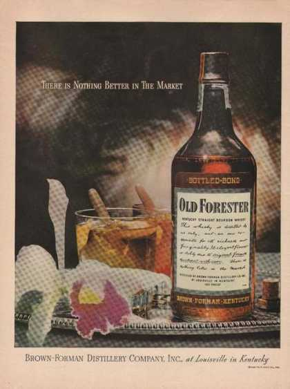 Nothing Better Old Forester Whisky Print A (1946)
