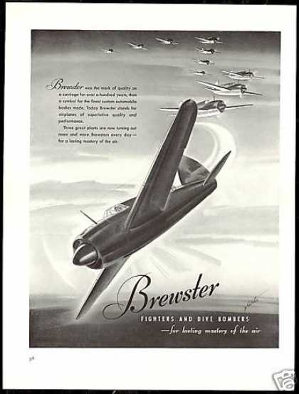 Brewster Airplane Fighters Bombers Art (1940)