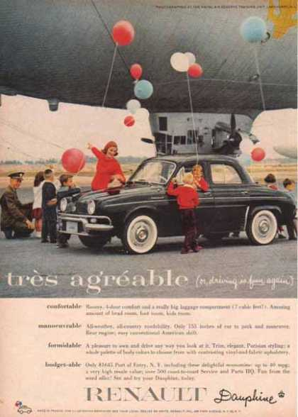 Renault Dauphine Car – tres agreable (1958)