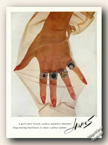 Jewels By Tiffany's Hanes Sheerloc Advertising (1963)