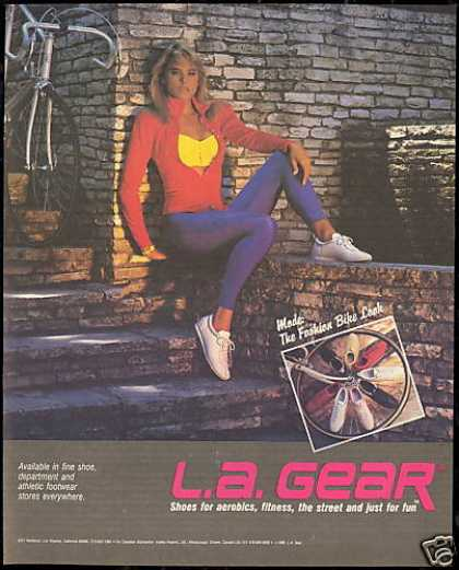 LA Gear Bike Shoe Bicycle Pretty Woman Photo (1986)