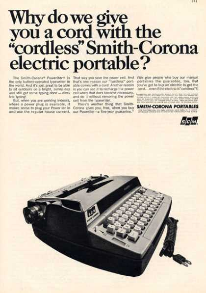Smith Corona Typewriter Portable (1966)