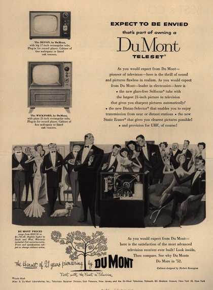Allen B. Du Mont Laboratorie's various – Expect to be Envied That's Part of Owning a Du Mont Teleset (1952)