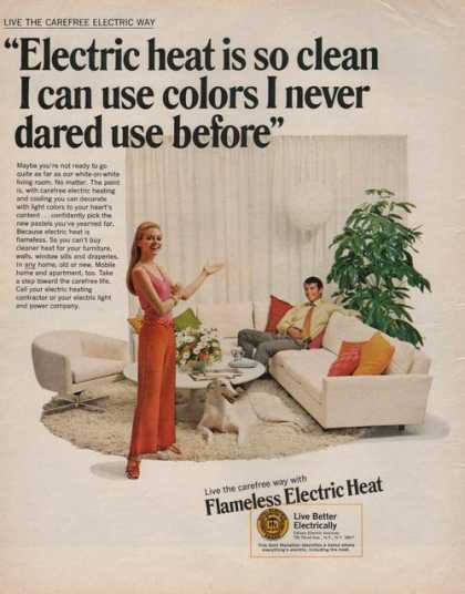 Edison Electric Flameless Electric Heat (1969)