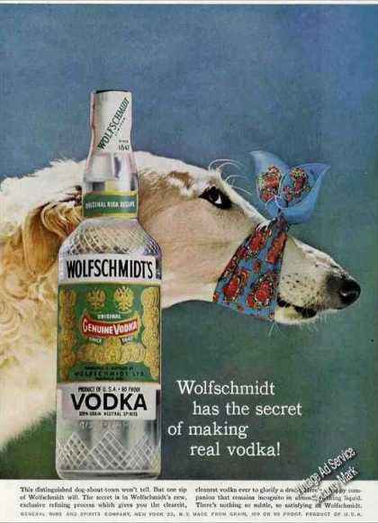 Russian Wolfhound Photo Wolfschmidt's Vodka (1958)