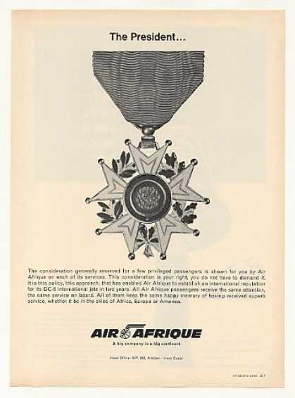 '66 Air Afrique Airlines President Medallion Service (1966)