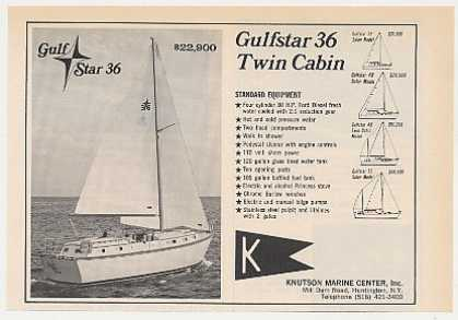 Knutson Gulfstar 36 Twin Cabin Boat Photo (1971)