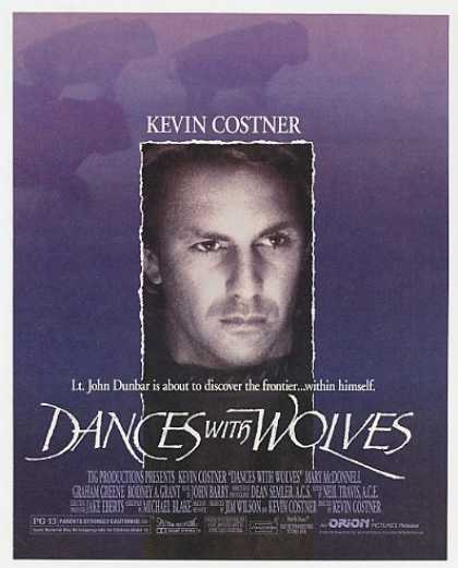 Kevin Costner Dances with Wolves Movie Photo (1990)