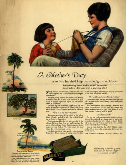 Palmolive Company's Palmolive Soap – A Mother's Duty (1925)