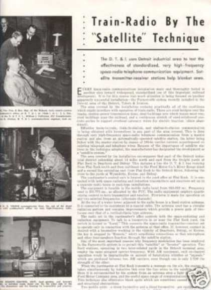 """Train-radio By the Satellite..."" Article/dt&i (1946)"
