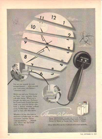 Thomas A. Edison Incorporation – Electronic Ease- Ediphone (1949)